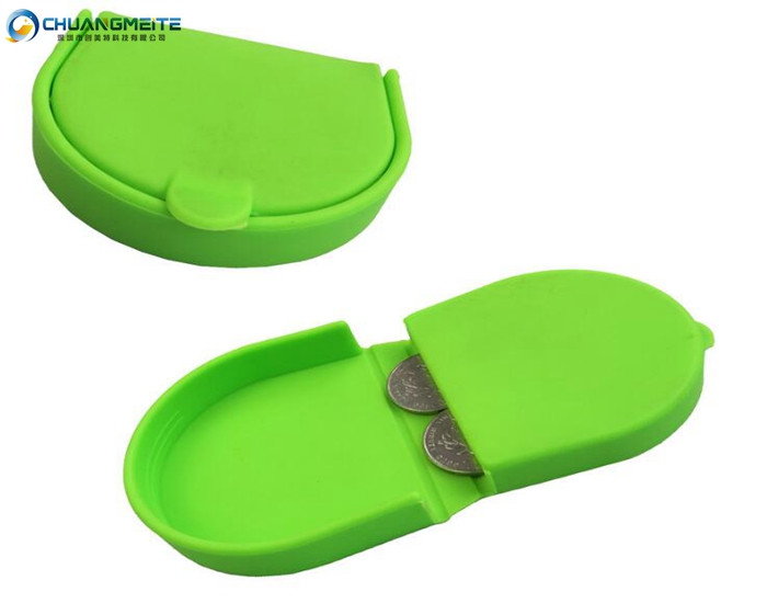 Eco-friendly promotional silicone coin bags purses