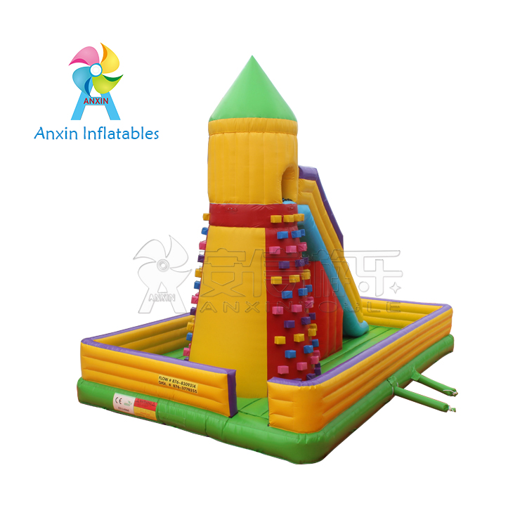 inflatable slide rock climbing toy indoor exciting mountain rocking climbing walls with blowers for