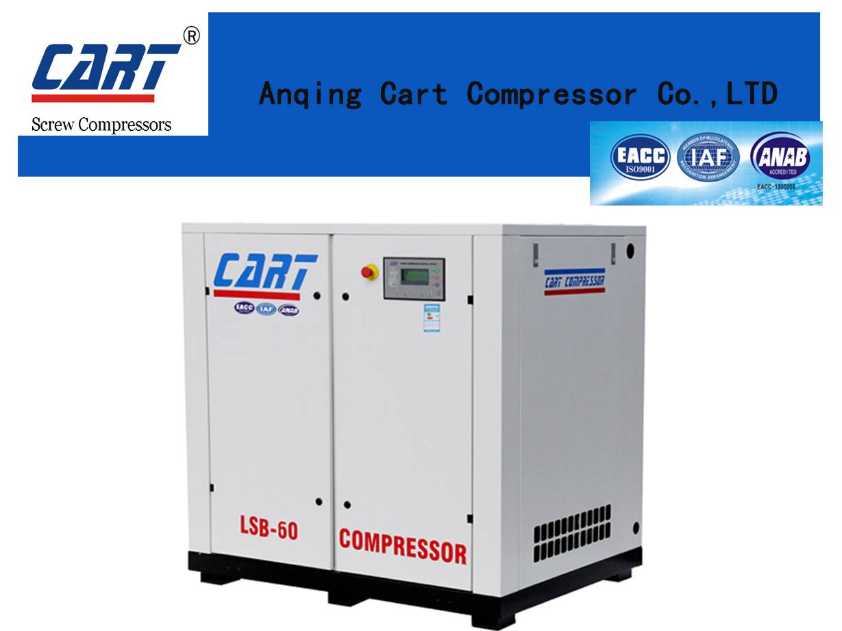 2016 hot sales 5.5KW/7.5HP screw air compressor