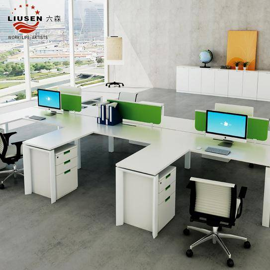 modern office workstations for 4 people(LS-PF-0209)