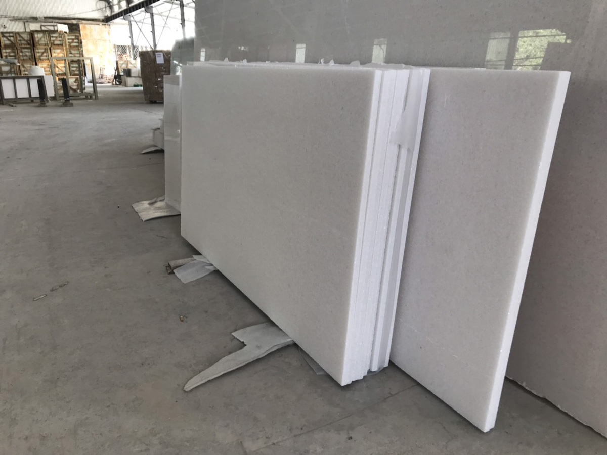 White Slab Marble Stone for Paving