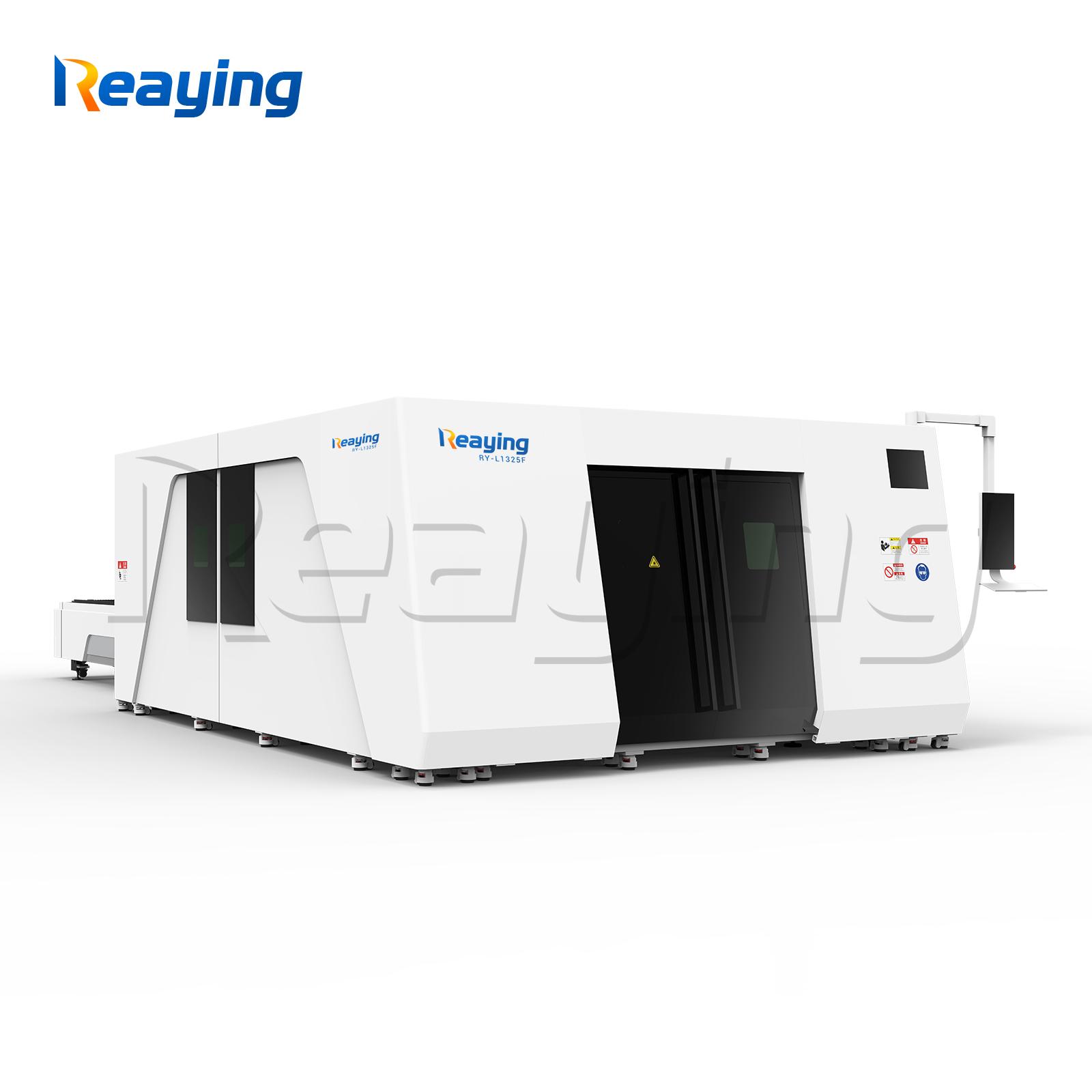 Raycus metal fiber laser cutting machine enclosed metal cutter machine 13002500mm