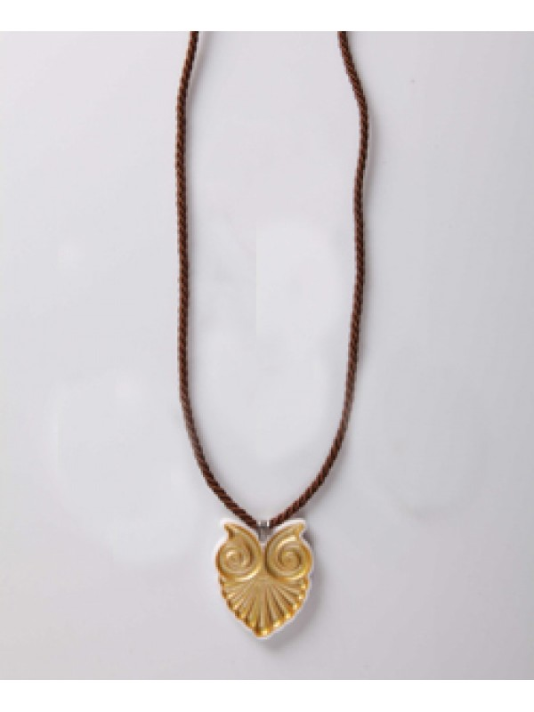 Necklaces Anthemius of Pentelic marble and gold K14 with cord