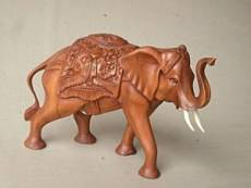 Bali Wooden Walking Elephant