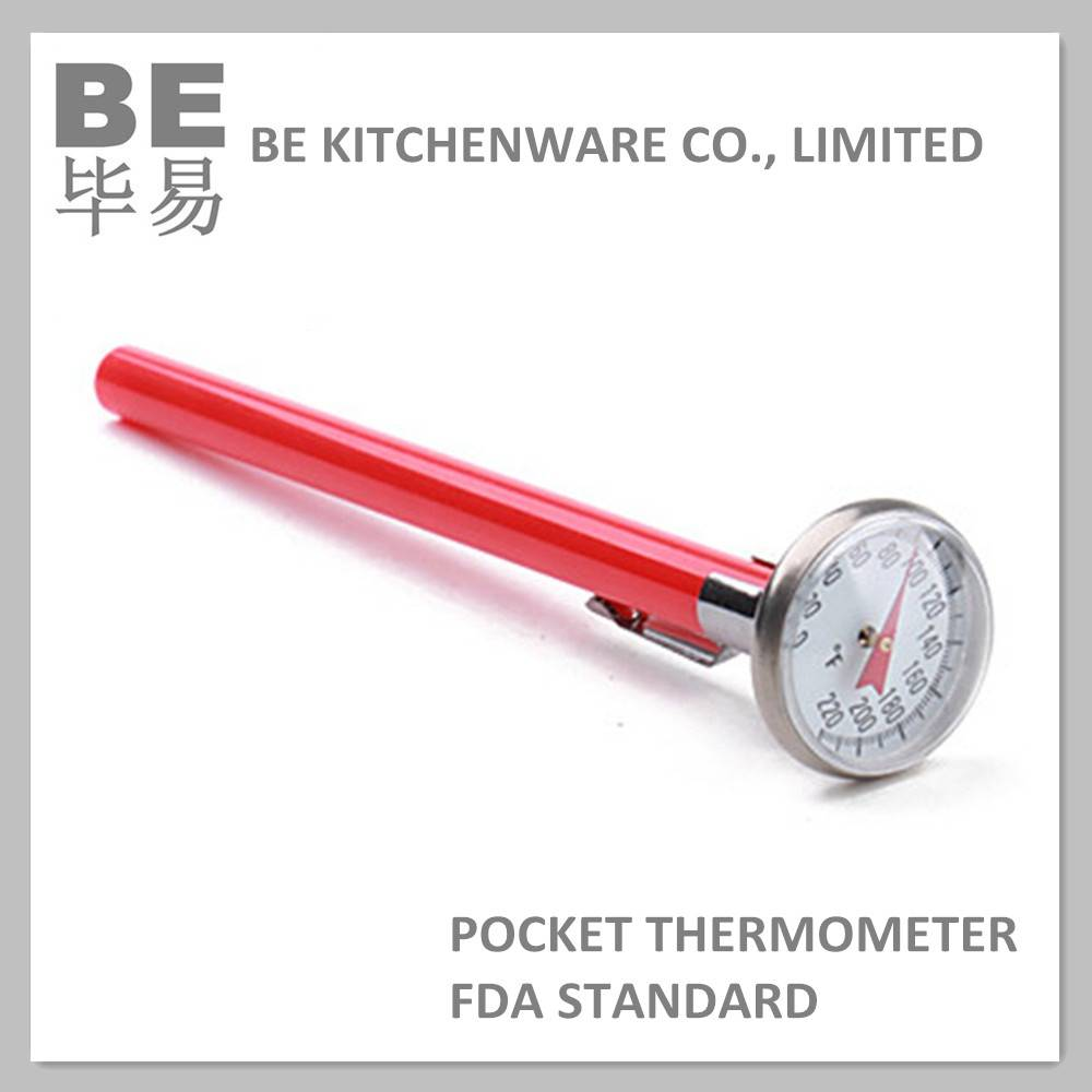 Dial type adjustable bimetal pocket thermometer