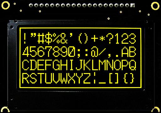 Graphic OLED Display Module PG12864GW/Y/G/B