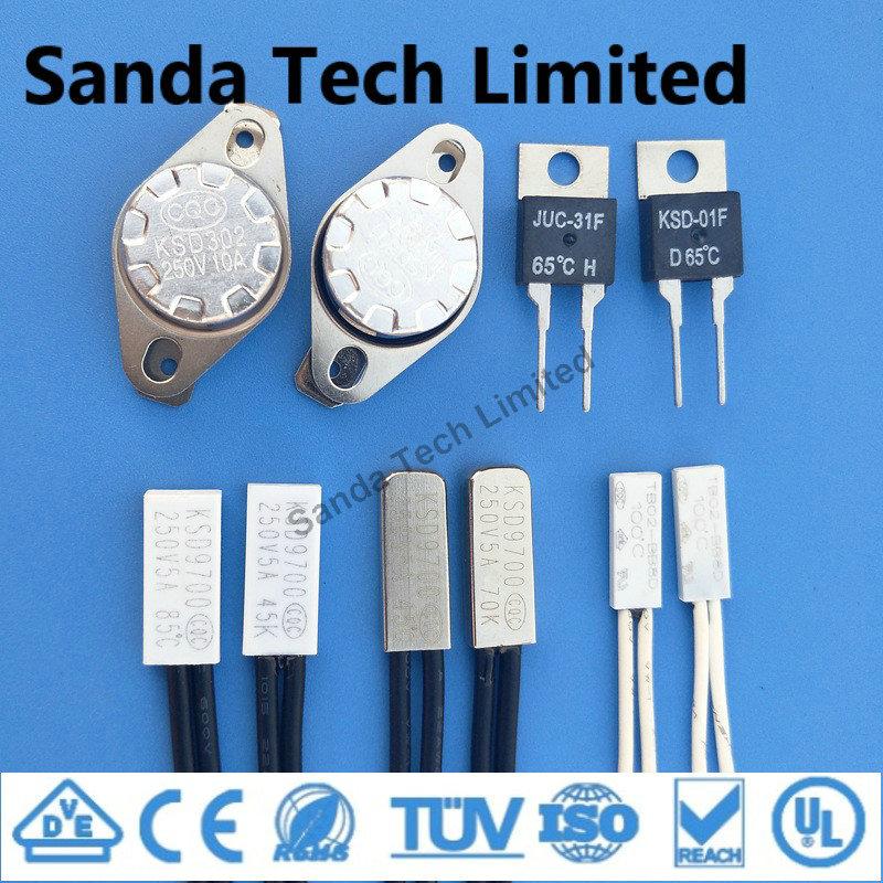 2A 5A 10A 12V 24V 120V 220V 250V TB02 TB05 Series Temperature Cutoff Switch 120 Degree Thermal Prote
