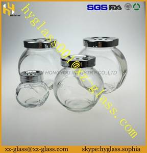 Alibaba China New glass jar different size glass bottle storages jar