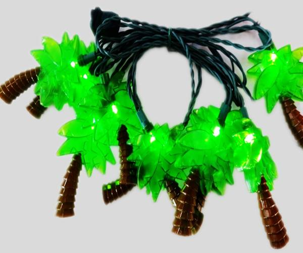UL 120V PVC wire LED light string with coconut tree cover