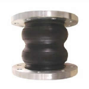 Double/twin sphere rubber joint