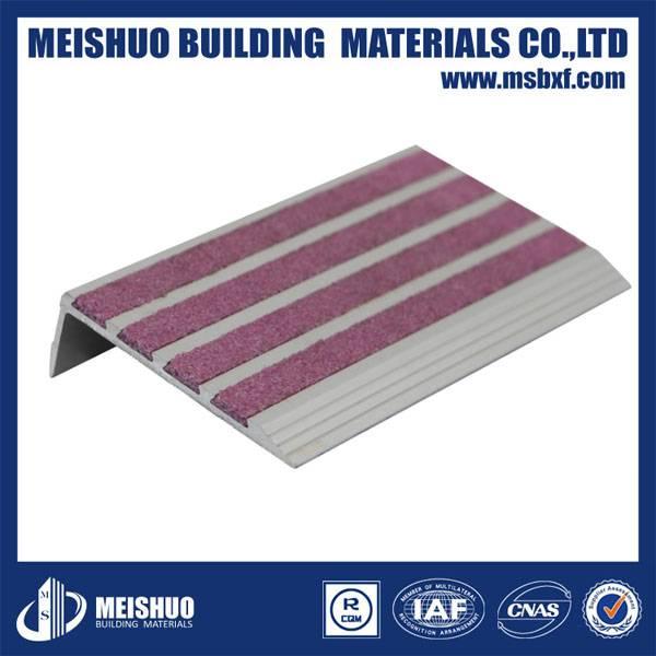 Aluminum anti-slip ceramic tile stair step treads