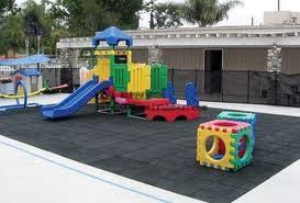 safe playground rubber floor for children