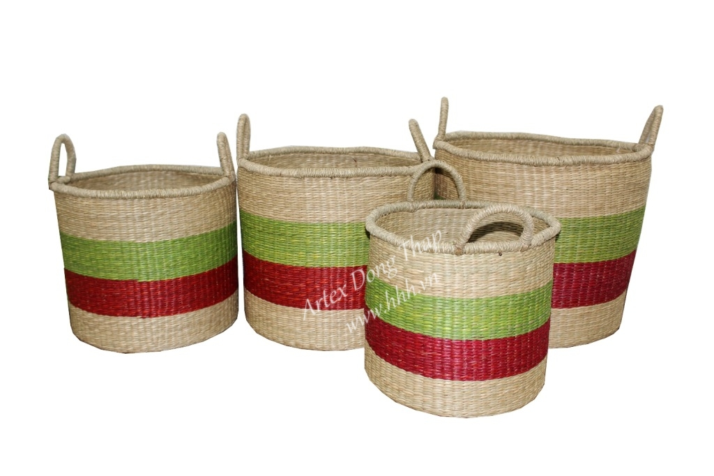 Seagrass baskets for office furniture - BH2923A-4MC