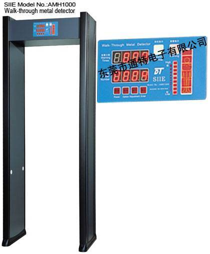 Walk-through Metal Detector with body shape show