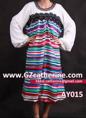 Colorful Stripe Painted Chiffon Plus Jalabiya Kaftan Dress