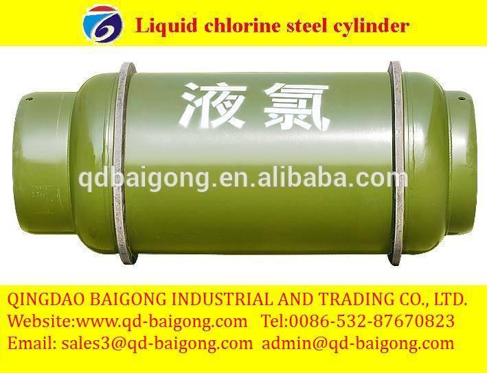 liquid chlorine steel gas cylinder