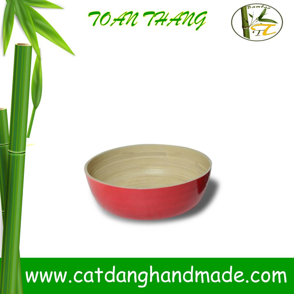 Bamboo salad bowl with low price(skype: jendamy, Mob: +84 914542499)