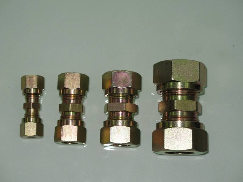 Straight thread connector-Assembly