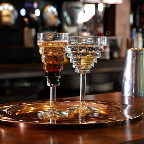 Layered elegant cocktail Glass