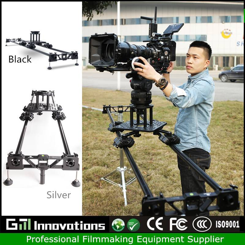 Professional aluminium alloy camera slider 2.4m loading 60kg slider for DSLR/ARRI/RED/video camera s