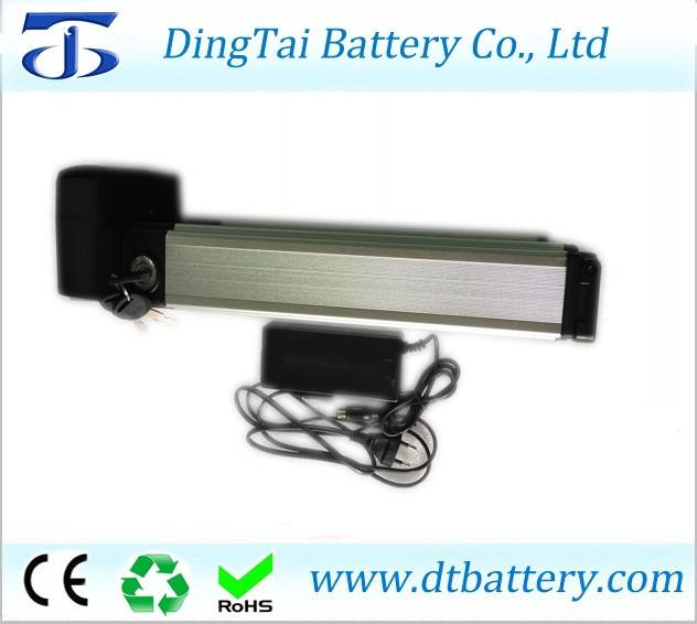 Rear rack electric bike battery 36V 14.5Ah Lithium ion INR18650 2900mAh- ebike battery pack with cap