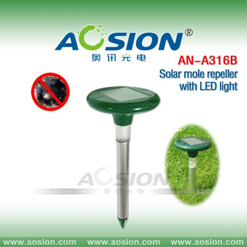 Advanced Solar Mole Repeller with LED Light