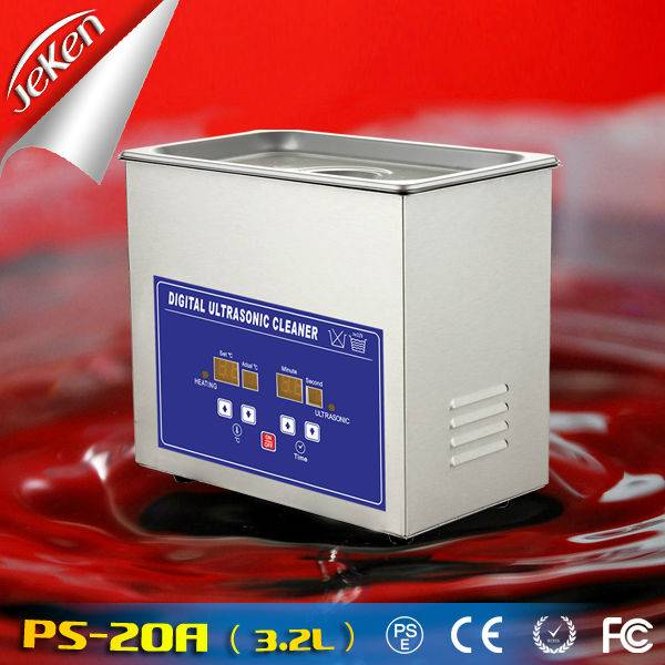 120W Best Used High Quality Portable Ultrasonic Jewelry Cleaner For Sale 3.2l (Jeken PS-20A)