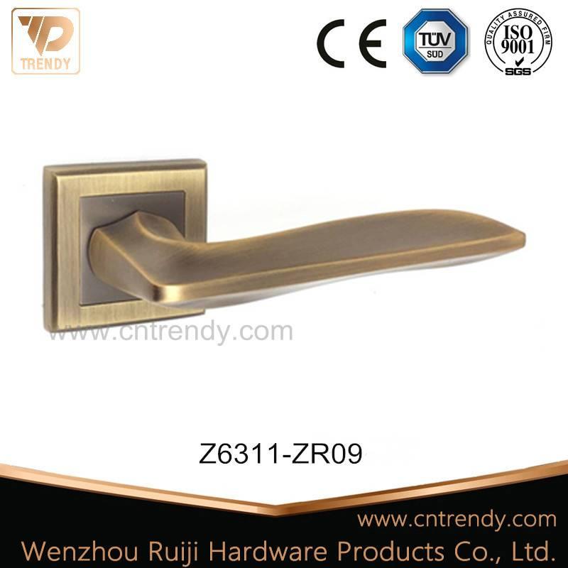 European Style Mat Coffee Color Zinc Alloy Door Lever Handle (Z6311-ZR09)
