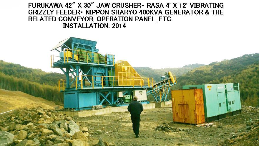 """USED """"FURUKAWA"""" 42"""" X 30"""" JAW CRUSHER PLANT"""