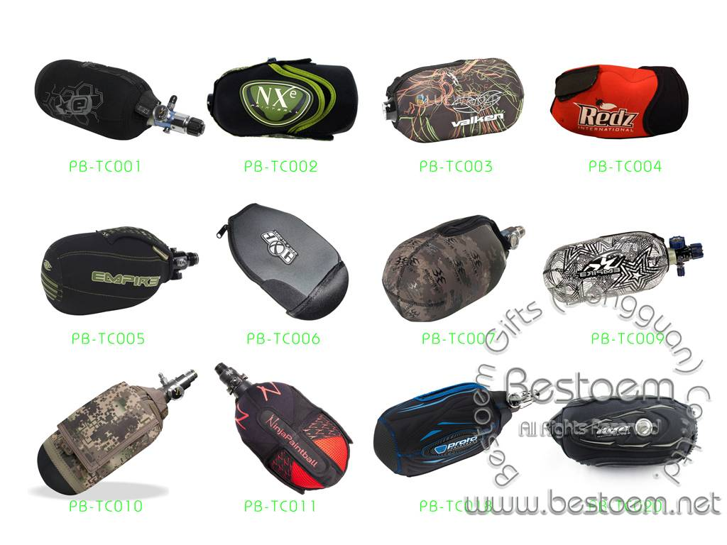 Neoprene Paintball Bottle gloves tank covers