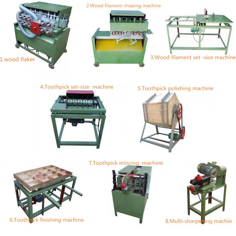 UD-1 wood toothpick making machine or wood toothpick maker line