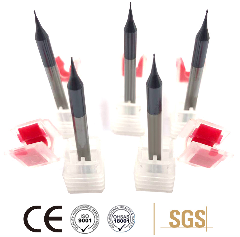 2 Flutes HRC45 Carbide Micro Milling Cutters