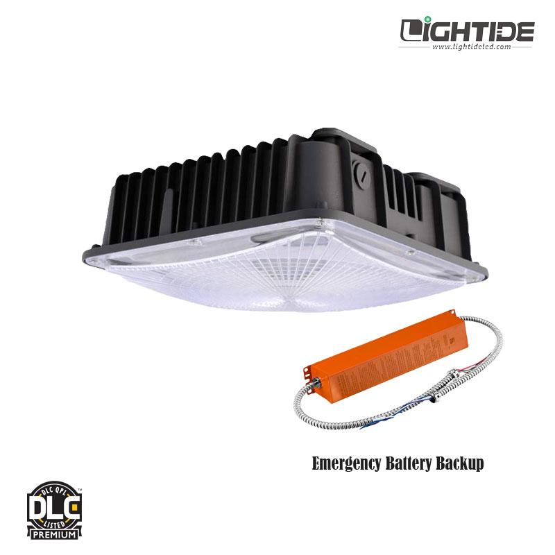 Lightide UL924 120W LED Garage light Fixtures Emergency Battery Backup, 5 yrs warranty