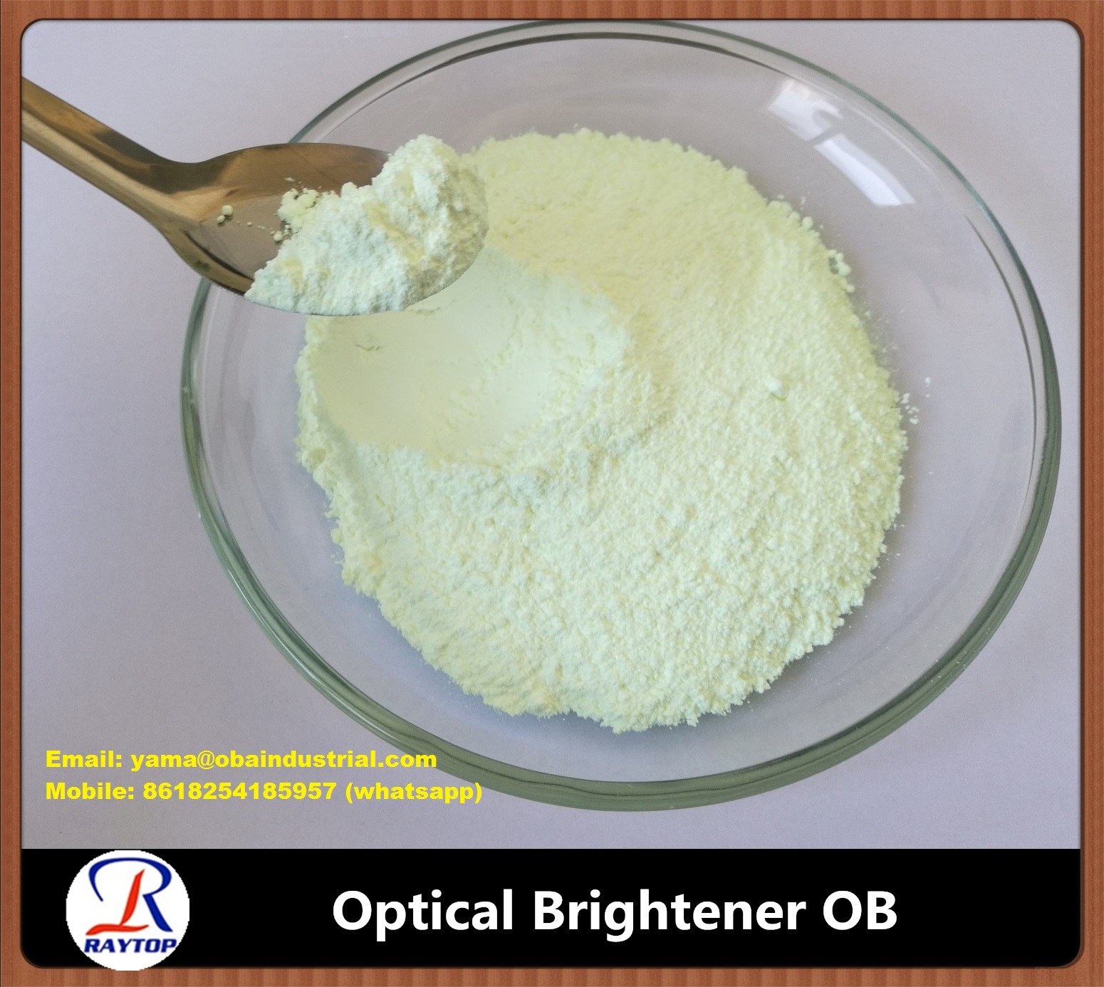 Plastic Optical Brightener OB used on the coating