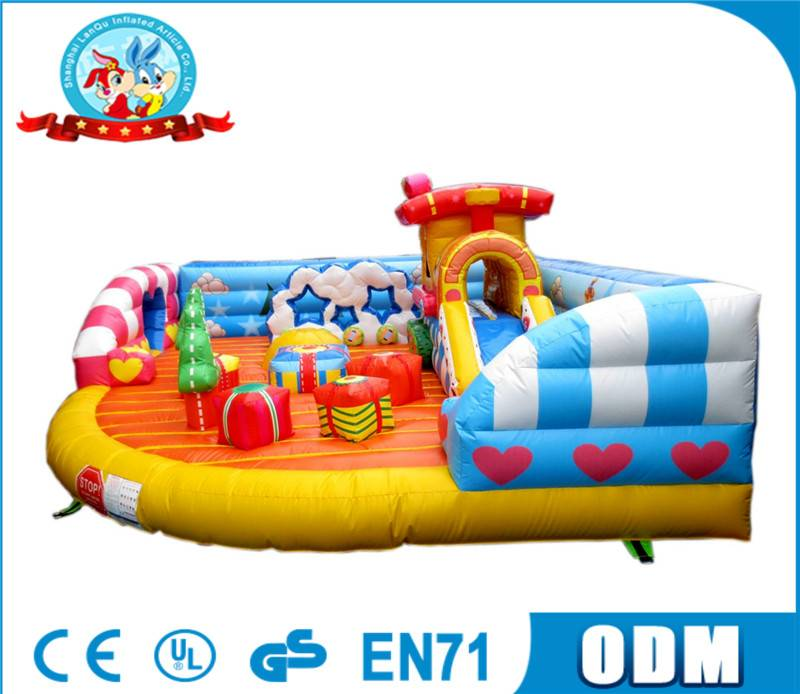 Lanqu children inflatable bouncer with free air blower for sale