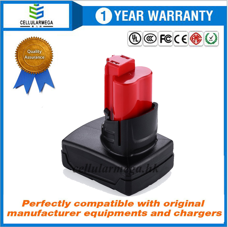 High Capacity 5.0Ah 12V Lithium-ion Cordless Tool Replacement Battery For Milwaukee 48-11-2411 M12