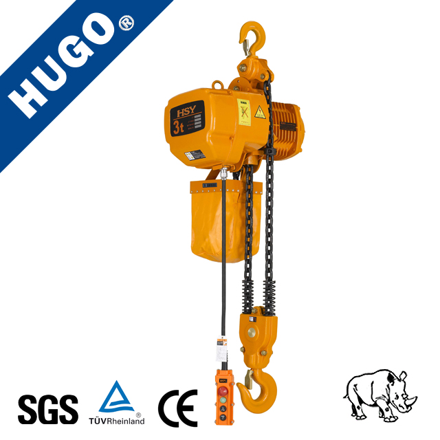 380V electric chain hoist with wireless remote control / small electric chain hoist
