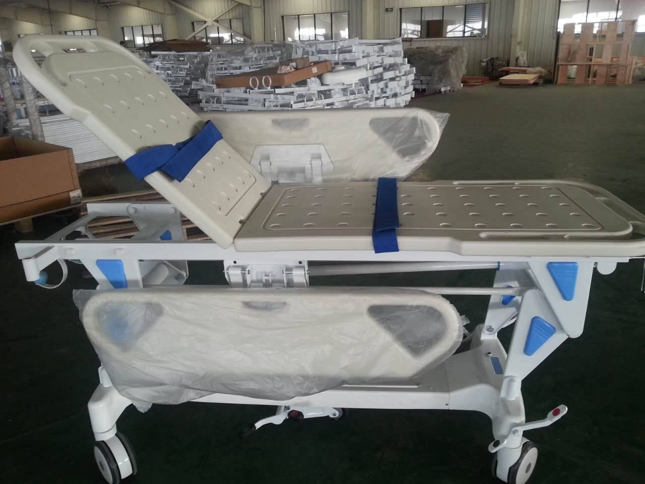 Manual Hospital Patient Transport Stretcher With Casters