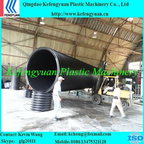 KFY hdpe corrugated drain drainage sewage pipe tube plant