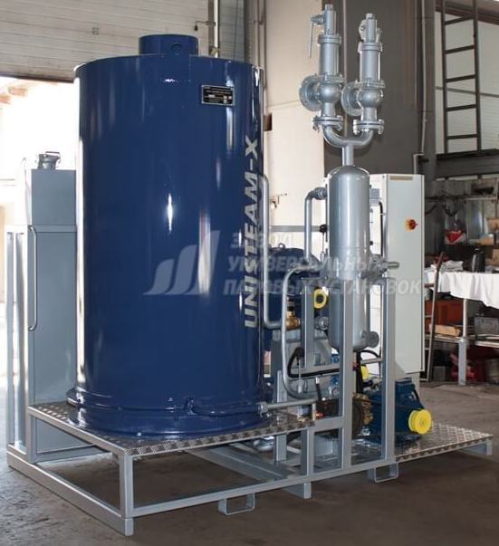 UNISTEAM-X STANDARD 2500 gas and diesel steam boiler for pharmaceutical and textile industries