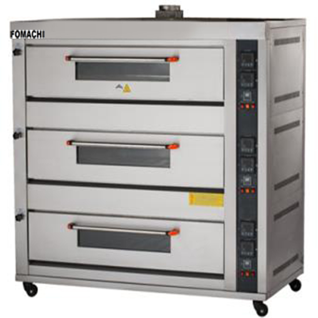 Commercial 3 Deck Gas Bakery Oven 3 Deck 6 Trays Bread Baking Oven FMX-O60R