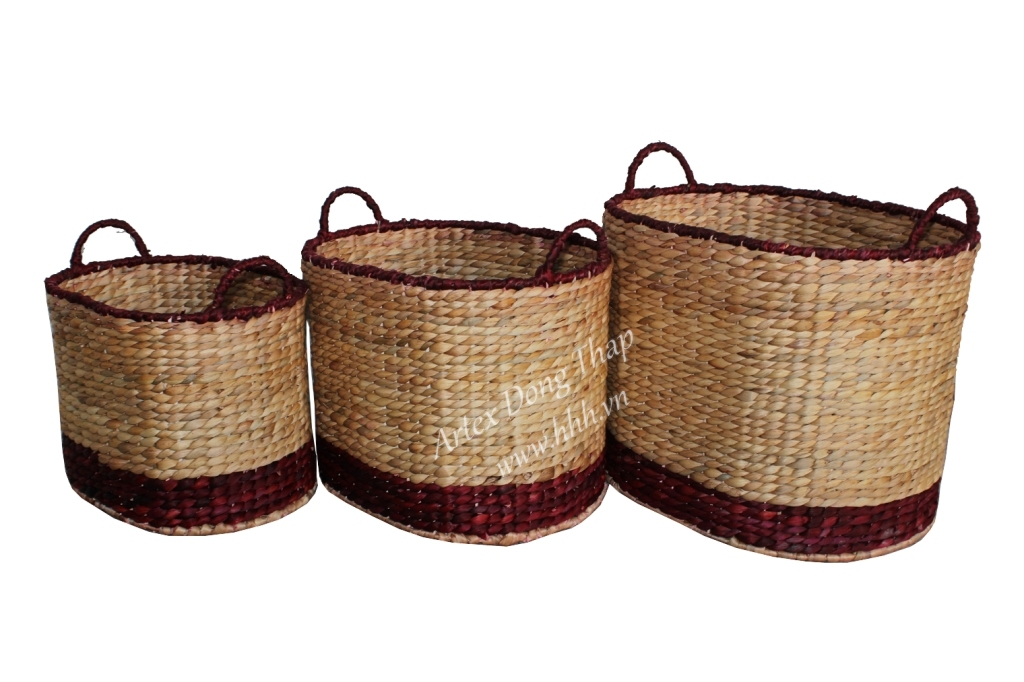 Water hyacinth basket for home decor and furniture - SD6988A-3MC