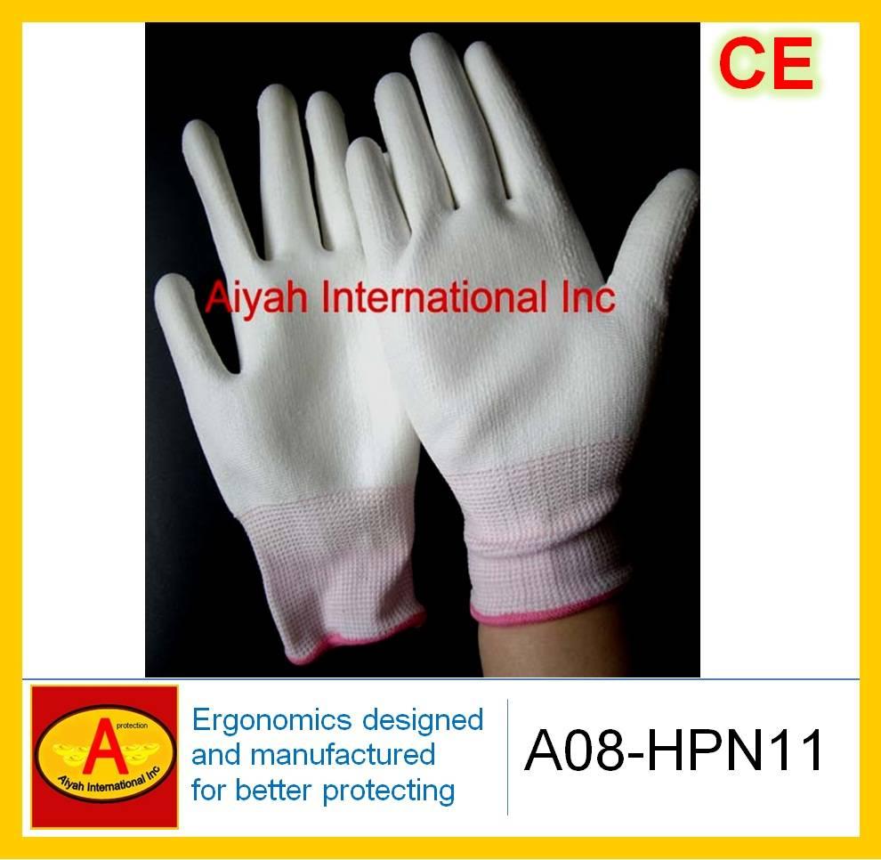Polyurethane(PU) Glove (CE)(A08-HPN11)