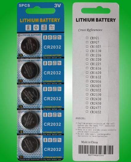 CR2032 3v lithium button cell battery coin cells