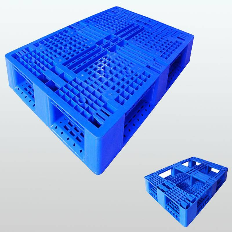 plastic pallet with picture frame bottom, stackable,grid,1200*800*150