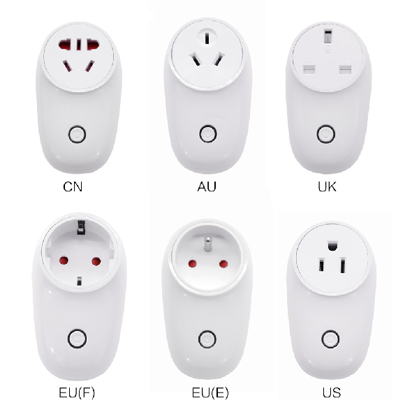 Wifi Smart Plug Wireless Remote Control Voice Control Power Monitoring Timer Plug