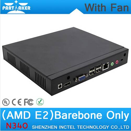 Cost effective N340 mini PC with E2 1800 dual core 1.7GHZ High quality iron shell support Bluetooth
