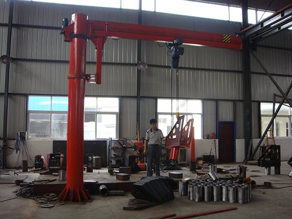 fix-column type 5 ton slewing jib crane