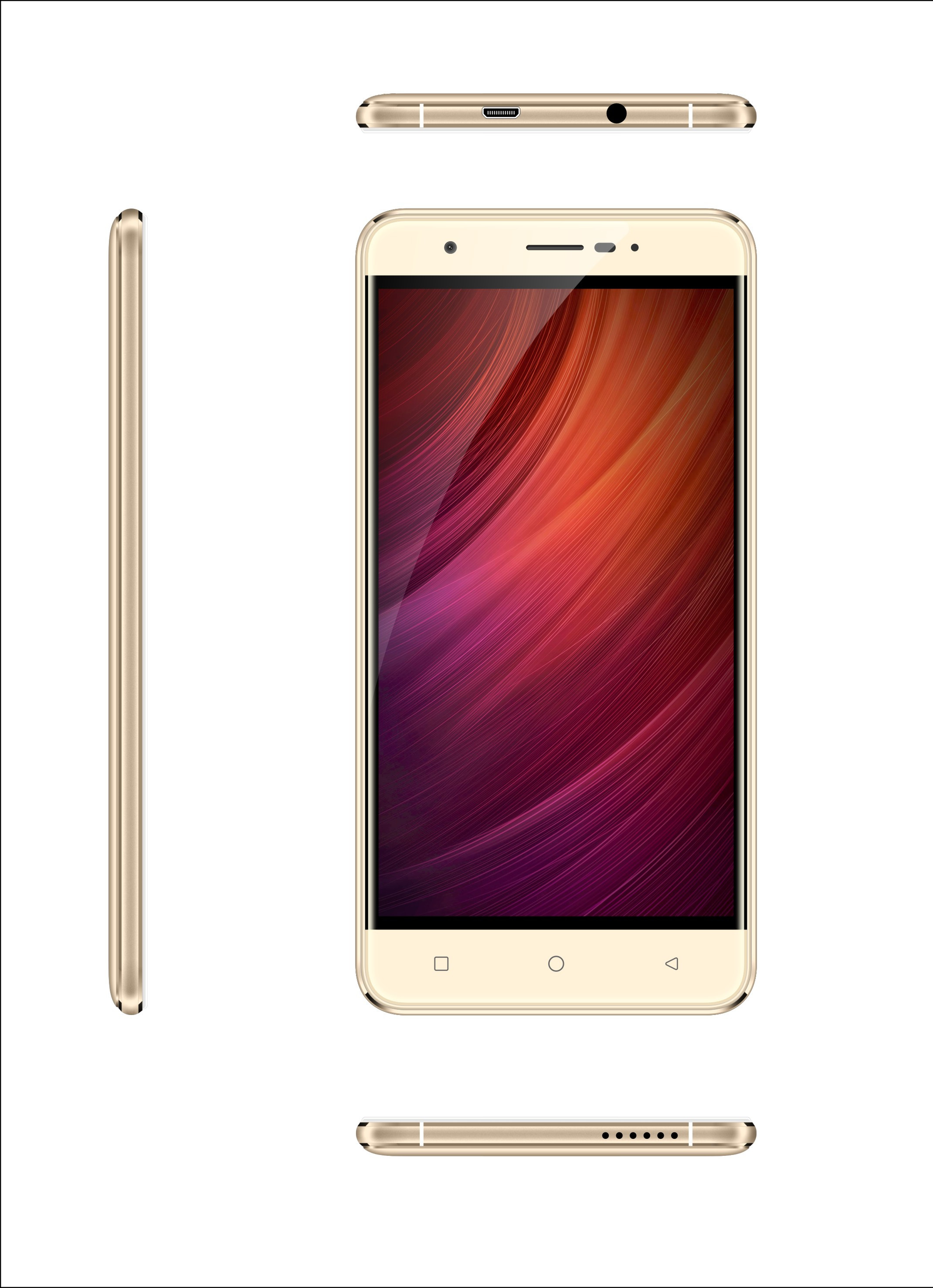 5.5inch 3G smart phone with MTK6580M chipsets 2+2MP dual cameras