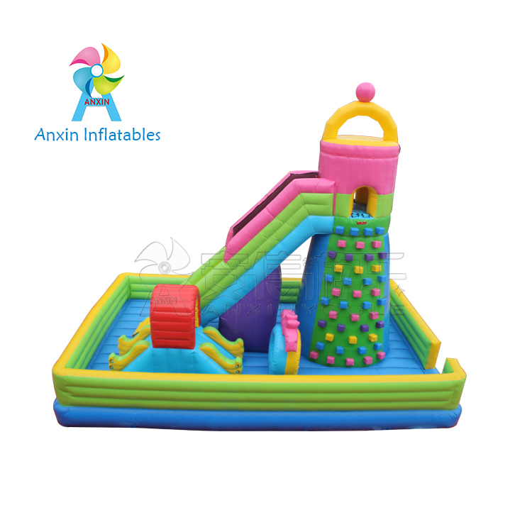 inflatable slide rock climbing toy indoor exciting mountain rocking climbing walls with blowers